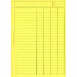 ELVE Bloc Audit 4 Colonnes + entête 297X210 80 Pages Jaune