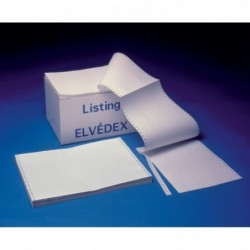 """ELVE Listing 380 x 12"""" - 1 feuillet velin blanc 60grs - carton de 2000 plis"""