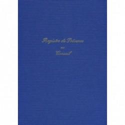 ELVE Registre PRESENCE AU CONSEIL 297 x 210 104 Pages Toilé Bleu