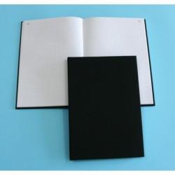 ELVE Registre Toilé Quadrillé 5 x5 Folioté 310 x 210 mm 200 pages Noir