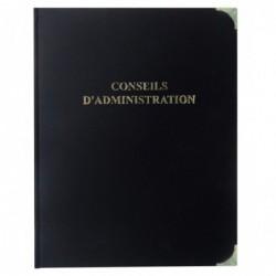 ELVE Classeur Reliure CONSEIL D'ADMINISTRATION Titre Doré + Recharge 100F