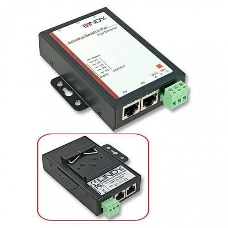LINDY Switch réseau 5 ports 10/100Mbit/s, montage à plat ou sur rail