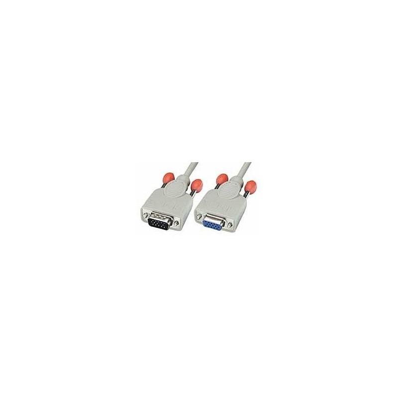LINDY Rallonge VGA 15 pins HD mâle/femelle 5m