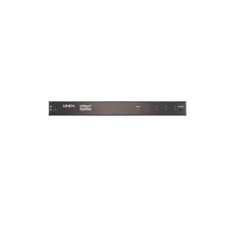 LINDY Splitter & émetteur C6 HDBaseT HDMI & IR 4 ports, 100m