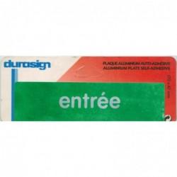 SIGN DIFFUSION Plaque auto-adhésive aluminium 17 x 4,7 cm DURASIGN Entrée Fond Vert
