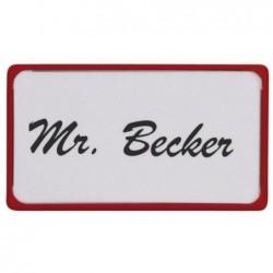 MAUL Boîte de 10 Etiquettes Badges magnétiques 75x40 mm Rouge