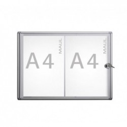 MAUL Vitrine Interieure MAULextraslim 2 x A4  Aluminium