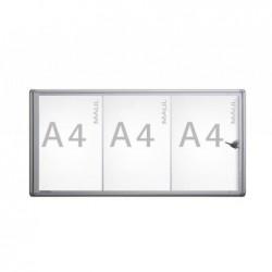 MAUL Vitrine MAULextraslim 3 x A4  Aluminium