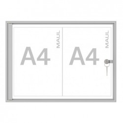 MAUL Vitrine extra plate série S 2 x A4 Aluminium