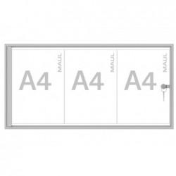 MAUL Vitrine extra plate série S 3 x A4 Aluminium