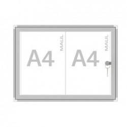 MAUL Vitrine intérieure série S 2 x A4 liège acrylate Aluminium