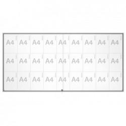 MAUL Vitrine coulissante série S 27 x A4 vitrage de sécurité Aluminium