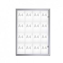 MAUL Vitrine extérieure 16 x A4  Aluminium