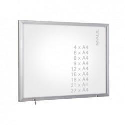 MAUL Vitrine extérieure série S 4 x A4 vitrage de sécurité Aluminium