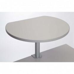MAUL Table haute sur pince mélaminée Gris