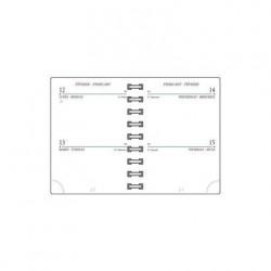 MIGNON Recharge Civil Agenda AG10 glissière 90x63 mm 2 jours / page Tranche Or