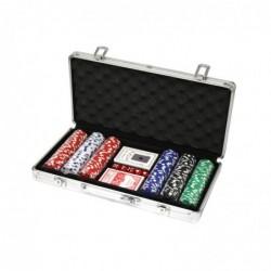 Malette de poker en alu avec 300 jetons (de 11,5g)