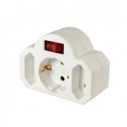 ARCAS Adaptateur multiprises avec interrupteur (2+1)