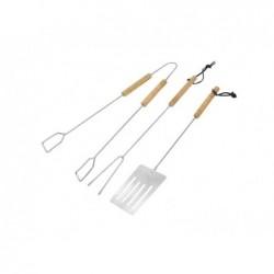 Kit barbecue 3 pièces  pince, spatule et fourchette (D16)