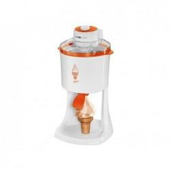 CLATRONIC Sorbetière ICM 3594 2 en1 pour glaces à l'italienne & crèmes glacées Blanc-orange