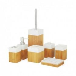 MK BAMBOO MK Bamboo PARIS - Set d'articles de bain en bambou (7 pièces)