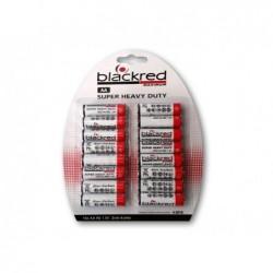 BLACKRED Pack de 16 piles Alcaline R06 Mignon AA