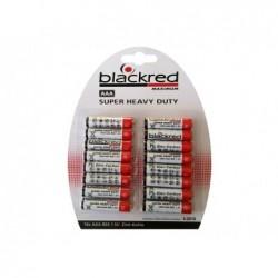 BLACKRED Pack de 16 piles Blackred R03 Micro AAA