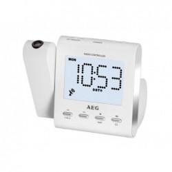 AEG Radio-réveil  MRC 4122 F N avec projection - Blanc