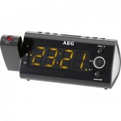 AEG Radio réveil projecteur  MRC 4121 P avec capteur infrarouge - Noir