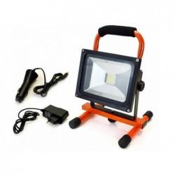 ARCAS Spot halogène rechargeable 20 watts LED  Orange