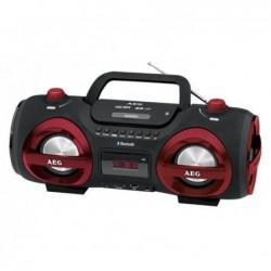 AEG Radio Stéreo AEG SR 4359 BT Soundbox CD/MP3 avec Bluetooth (rouge)