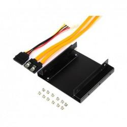 RHOMBUTECH Cadre de montage en métal DOUBLE lecteur HDD/SSD 3,5 pour  2x HDD/SSD  2,5 avec câble (HL-SD1)