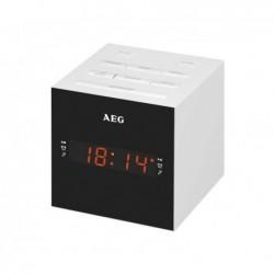 AEG Radio-réveil USB AUX-In   MRC 4150 - Blanc