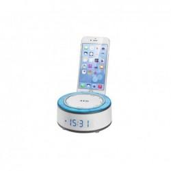 AEG Radio réveil AEG MRC 4151 avec support pour Smartphone - Blanc