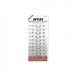 ARCAS Pack de 40 piles bouton Arcas AG3-AG13 0% Mercury/Hg