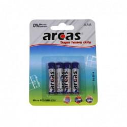 ARCAS Pack de 4 piles R03 Micro AAA