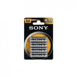 SONY Pack de 4 piles Ultra AA R06 chlorure de zinc