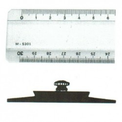 MINERVA Règle Triple Décimètre 2 biseaux anti-tâche Altuglass Photogravée 30 cm