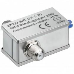 GOOBAY Atténuateur réglable, 0-20 dB, f-jack/f-jack0,1 - 2400 MHz