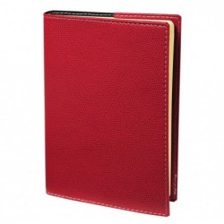 QUO VADIS Carnet de notes 15 ligne Club rouge cerise Elast 10x15 cm