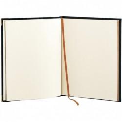 QUO VADIS Livre d' Or NOTES 27 Tranche Dorée Veneto noir 21 x 27 cm