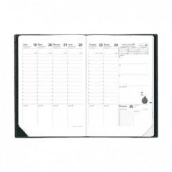 QUO VADIS Agenda Scolaire Planning SD Sept / Dec 18x24cm Noir