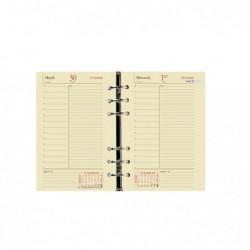 QUO VADIS Recharge Agenda Organiseur Timer 17 1 jour page Prestige DEC/DEC 10 x 17 cm