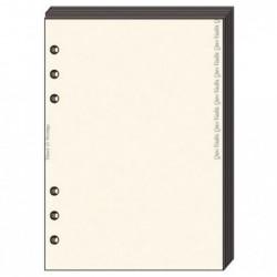 QUO VADIS Recharge Accessoires Organiseur BLOC-NOTES Timer 14 Ivoire 8 x 12 cm 60 pages