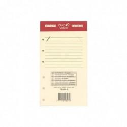 QUO VADIS Recharge Accessoires Organiseur FICHES NOTES Timer 14 Ivoire 8 x 12 cm