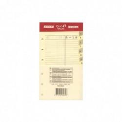 QUO VADIS Recharge Accessoires Organiseur REPERTOIRE TEL Timer 14 Ivoire 8 x 12 cm