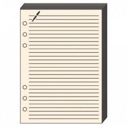 QUO VADIS Recharge Accessoires Organiseur FICHES NOTES Timer 17 Ivoire 10 x 17 cm