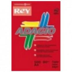 PAPYRUS Ramette de 500 feuilles papier couleur ADAGIO+ 80g A4 rouge intense