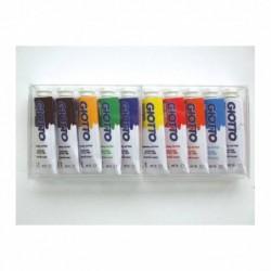 OMYACOLOR Boite cristal de 10 tubes 10ml de gouache fine assortis