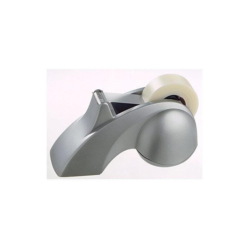 ALBA Dévidoir de table lourd coloris gris métal pour rouleau adhésif de 33m